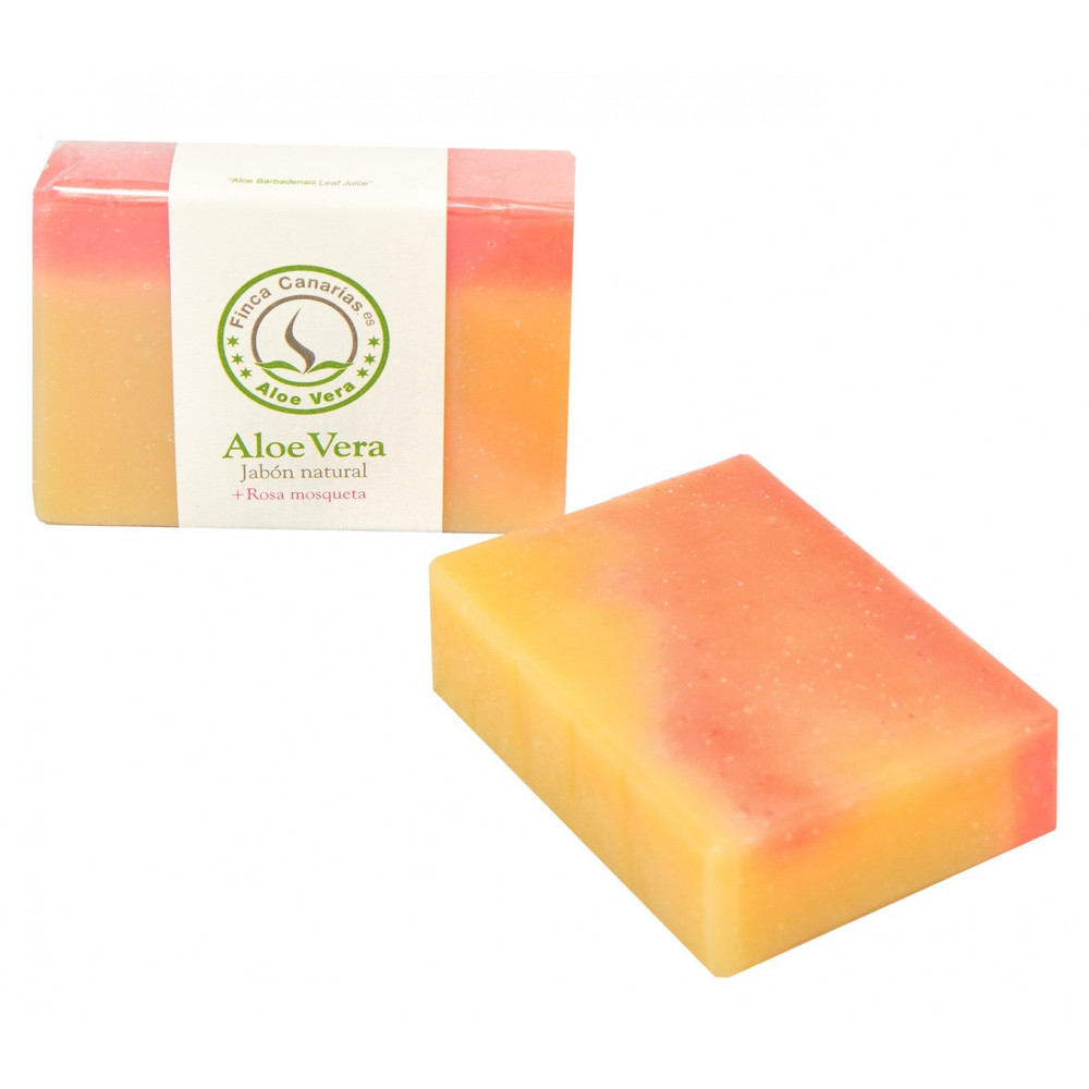 Handcrafted Aloe Vera and rose hip oil soap